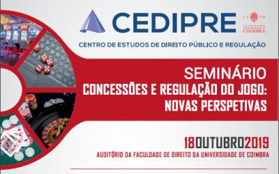 """Seminário """"Concessões e Regulação do Jogo: Novas Perspectivas"""""""
