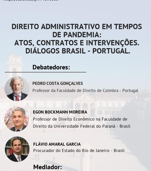 Webinar: Direito Administrativo em tempos de Pandemia