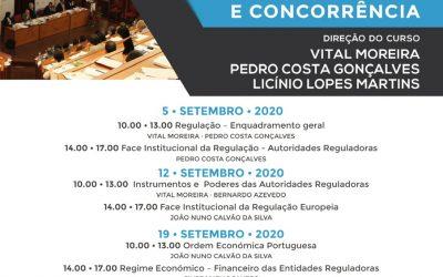 XIX Curso de Pós-Graduação em Regulação Pública e Concorrência