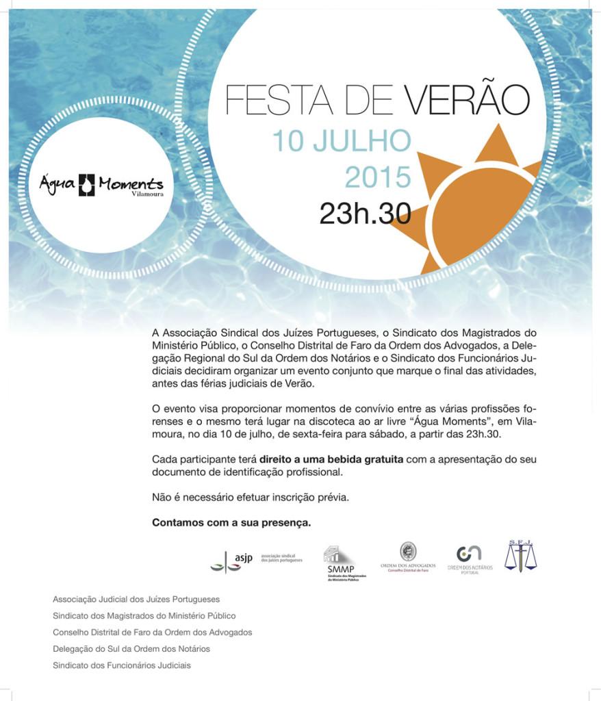 Cartaz Festa de Verao AFF