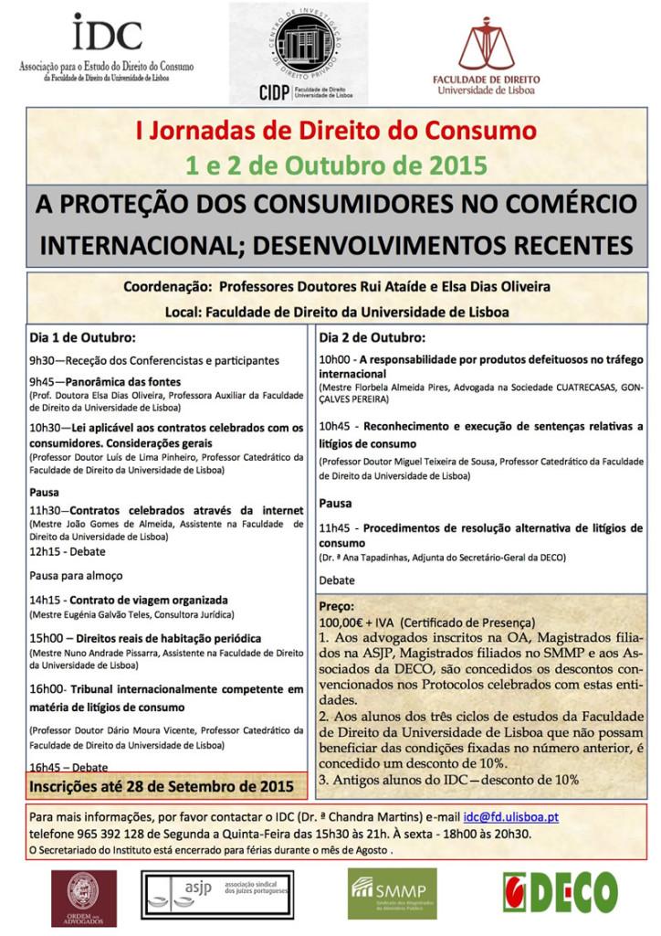 Cartaz Jornadas Direito do Consumo2015