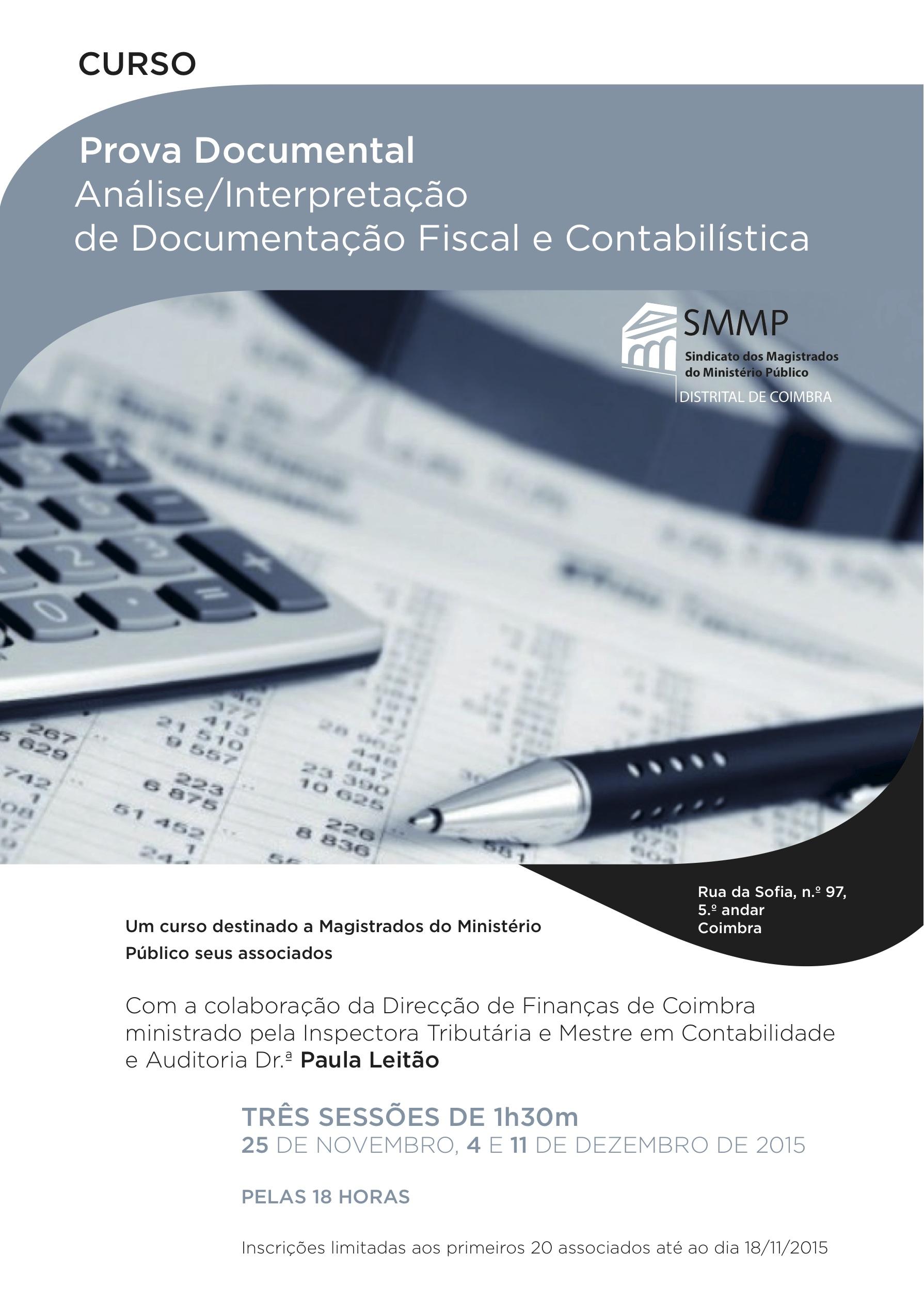 """Curso  """"Prova Documental – Análise/Interpretação de Documentação Fiscal e Contabilística"""
