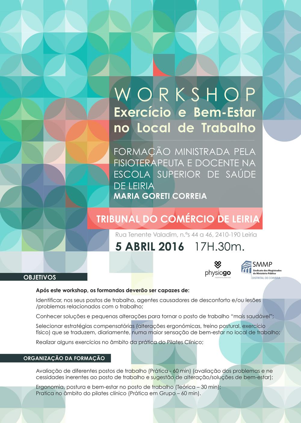 Workshop sobre exercício e bem estar no local de trabalho