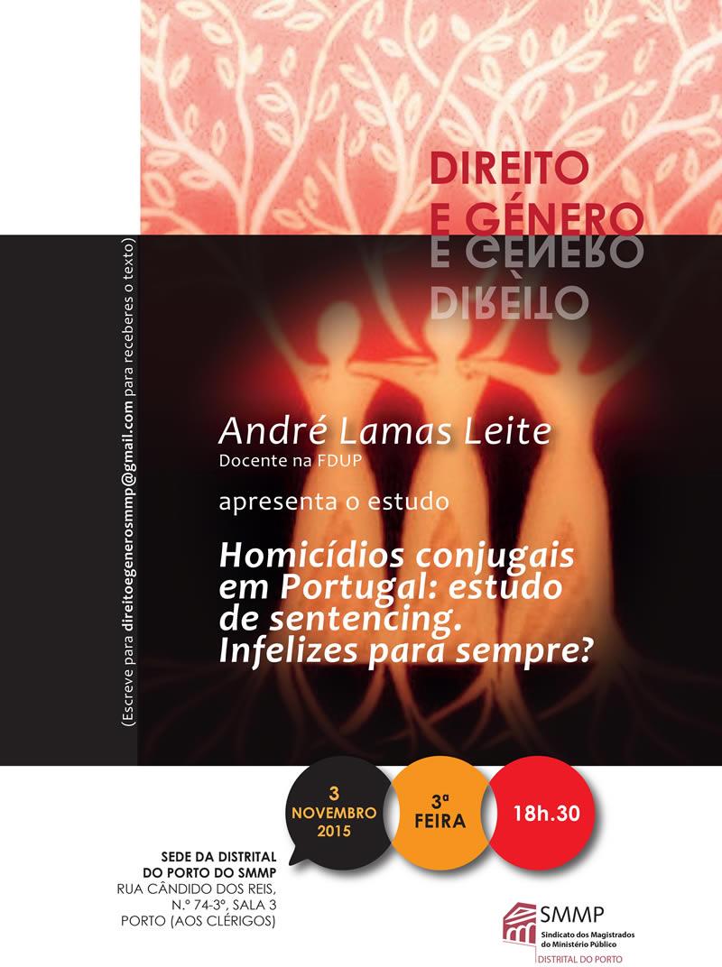Direito e Género, com  André Lamas Leite (3 de Novembro)