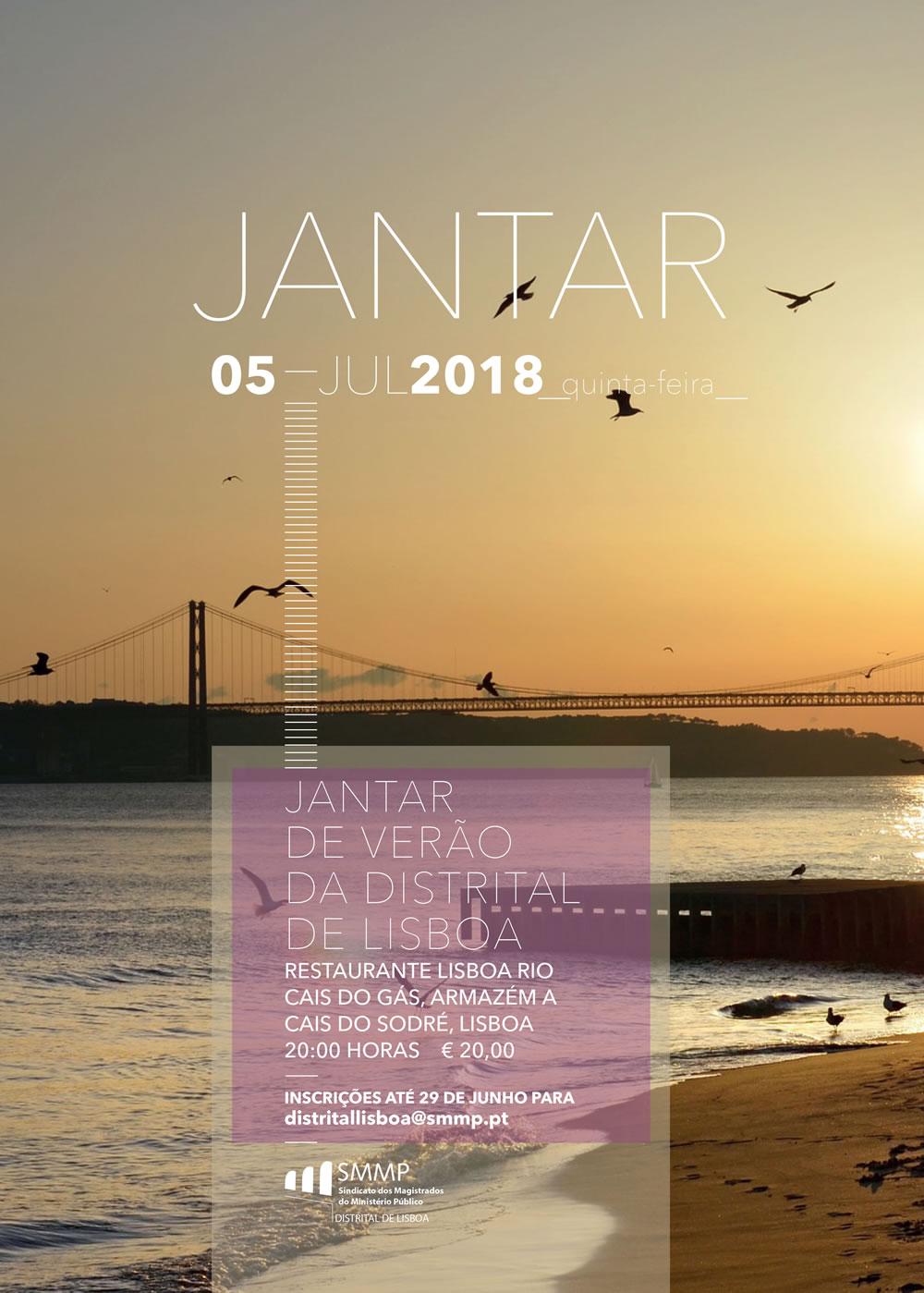 Jantar de Verão da Distrital de Lisboa – 05 de Julho