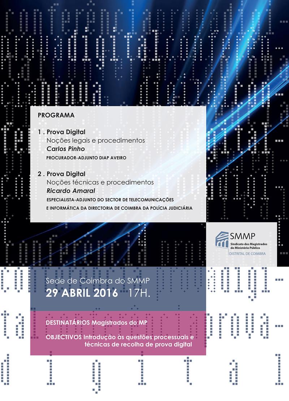 """Conferência sobre """"Prova Digital, noções legais, técnicas e procedimentos"""""""