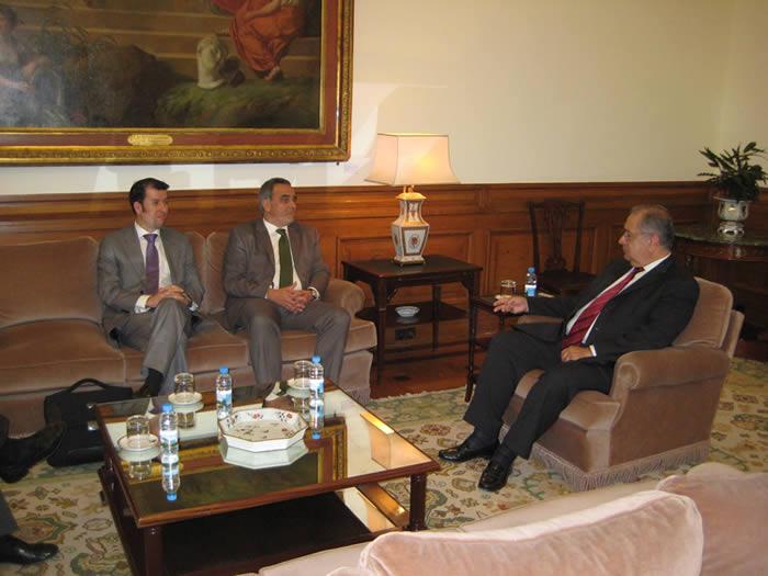 Fotografias da audiência com o Presidente da Assembleia da República