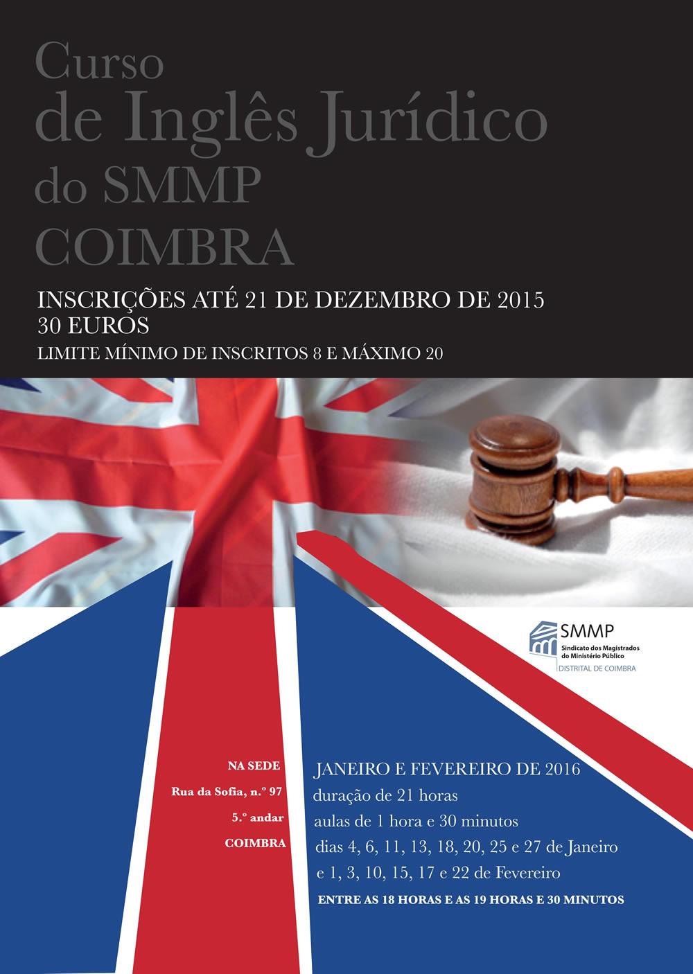 Curso de Inglês Jurídico do SMMP Coimbra