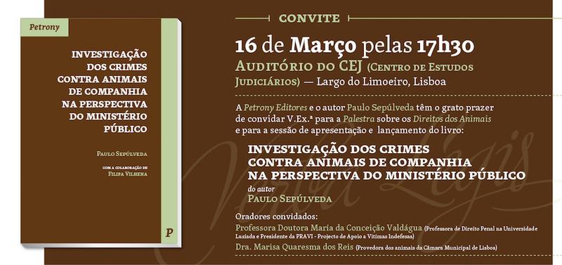 """Apresentação do livro """"Investigação dos crimes contra animais de companhia, na perspectiva do Ministério Público"""""""