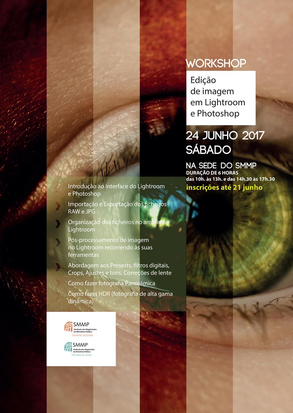 """Workshop """"Edição de Imagem em Lightroom e Photoshop"""""""